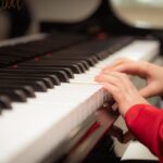 piano, playing, learning